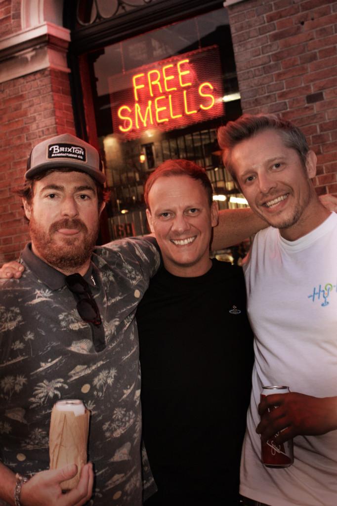 Scott Munro, Antony Cotton and James Douglas