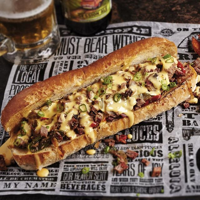 Behold!The Brisket Philly Cheesesteak S'wichAvailable for worship from 3rd November. - 2015-10-21 17:01:07