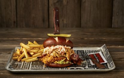 The Dirty Buffalo Chicken Burger