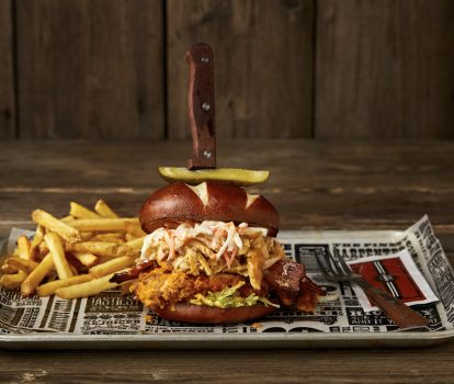 The Dirty Buffalo Chicken Burger