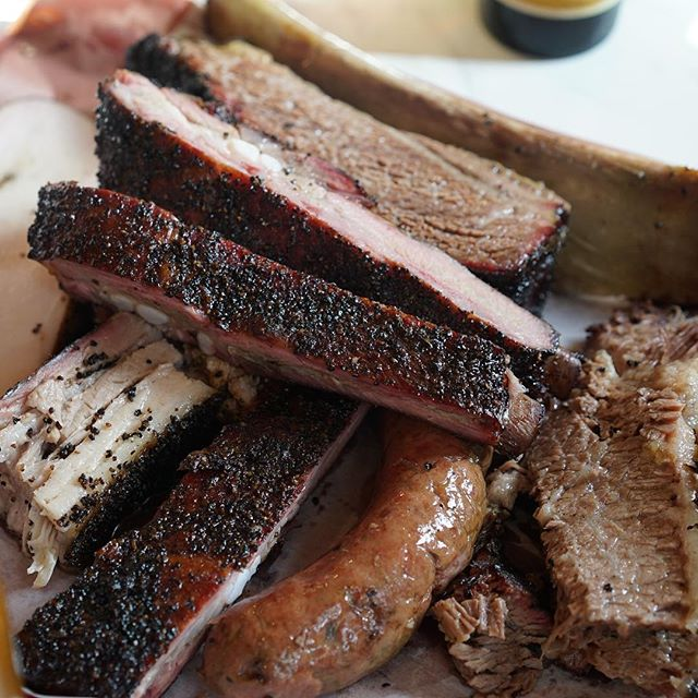Brisket, beef and pork ribs, smoked turkey and homemade pork & beef sausage. @killensbbq is just next level. #redspilgrimage – 2016-02-24 18:42:01