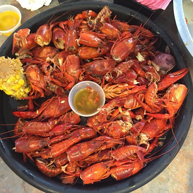 Guidry's Cruisin' Cajun Crawfish 100% hit the spot after a week of 'cue. Scott won't forget the hot chilli challenge for a long time…#redspilgrimage – 2016-03-01 18:27:26