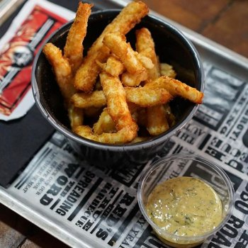 Feast your eyes on Halloumi Fries, a new Little Plate for your worship. Available now.