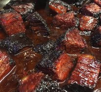 Thrice smoked burnt ends, fresh out of the smoker in Nottingham.