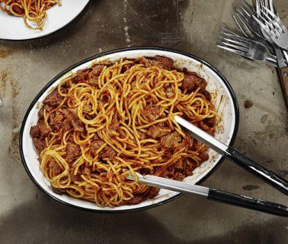 BBQ Meat Spaghetti