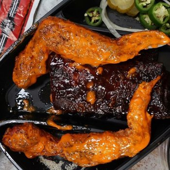 4 hour smoked Baby Back ribs and XXXL buffalo wings. Tonight's takeout order? Sorted.