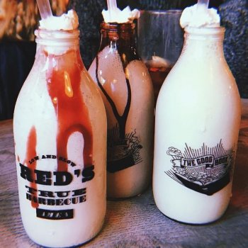 New malt shakes are in! *Raspberry Brownie Ripple *Cold Brew Coffee *Vanilla Custard  #shakes #foodporn #dessertporn #dessert  Photo props @lucy.mclaughlin