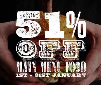 51% off food in January